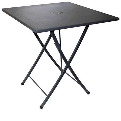 tavoli pieghevoli per esterno zeus tavolo pieghevole in acciaio 70x70 cm adatto ad