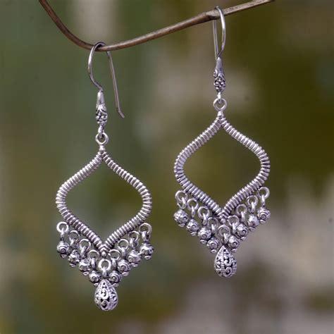 Silver Chandelier Earrings Uk Unicef Uk Market Artisan Crafted Silver Chandelier Earrings From Bali Ancient Chimes