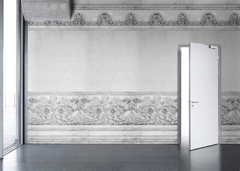 white bookshelf wallpaper interiorzine