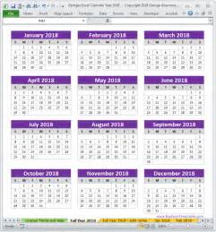 Free Printable 2018 Yearly Calendar Free Yearly Printable Calendar 2018 Editable