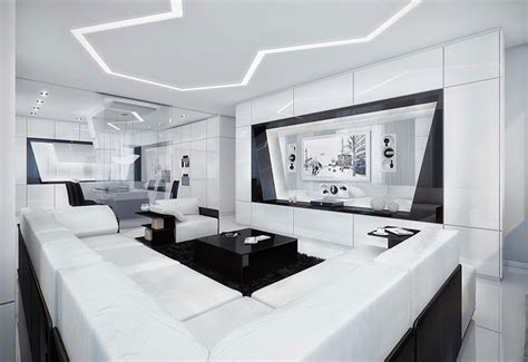 black white futuristic modern and futuristic black and white apartment modern