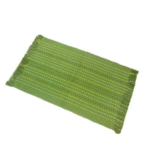 Woven Floor Mats by Sunlite Enterprises Green Cotton Woven Floor Mat