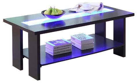 furniture of america raveena led light glass top espresso