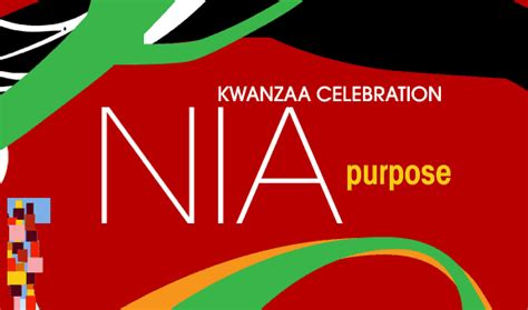 kwanzaa day 5 today s principle is nia purpose