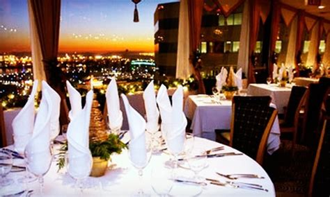 half dining at the sky room in the