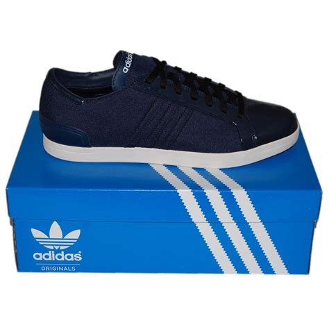 adidas originals court lounge navy mens shoes from attic