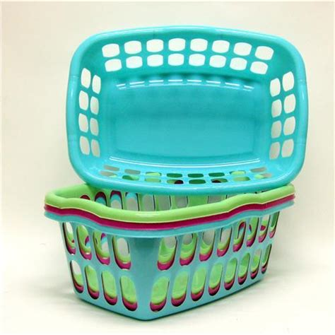 colored laundry baskets wholesale small laundry basket 18 25 x 13 x 7 quot 3 colors