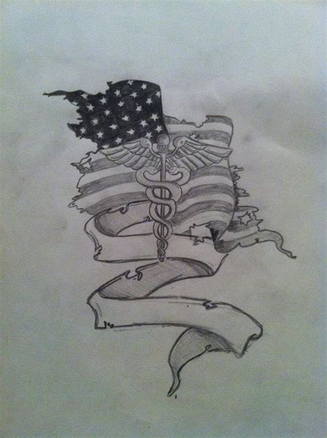 tattoo design combat medic army custom dalydesigns