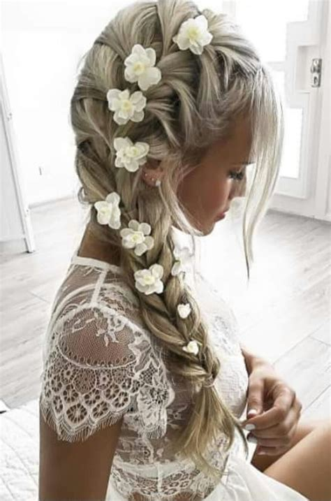 Wedding Hairstyles To The Side With Flower by 25 Best Ideas About Side Braids On