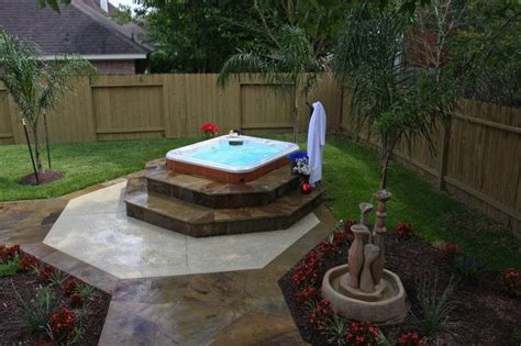hot tub for backyard landscaping hot tub pictures solutions custom