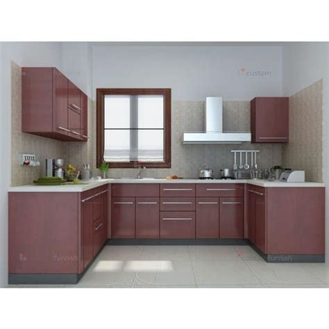 modern godrej u shaped modular kitchen rs 1800 square