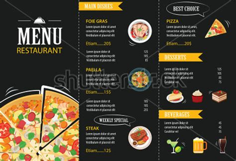 template for menu card design 29 most appealing restaurant menu card designs