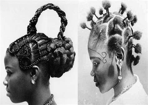 black retro hairbraids vintage african hair do s under wraps