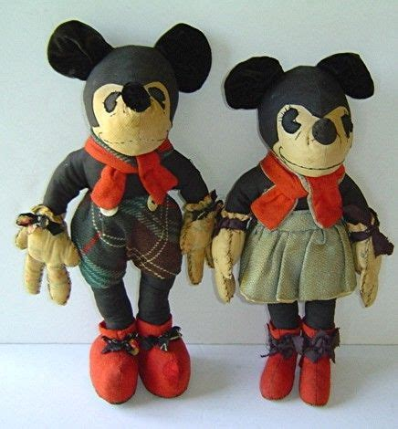 Mickey Original original 1930 s mickey mouse and minnie mouse dolls
