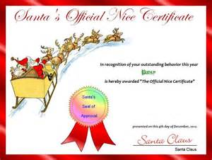 santa certificate template search results for free santa list certificate