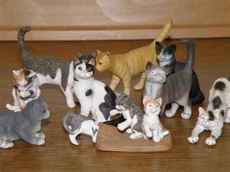 Schleich Kitten Figure 2 schleich katzen 11 handbemalte figuren in