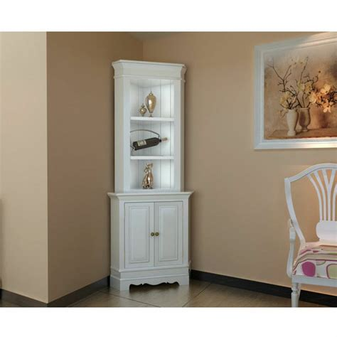 Shelving Furniture Living Room Corner Display Cabinet Wooden Shelf Shabby Chic Unit White Living Room Furniture Swinford