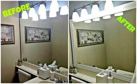 Framing Builder Grade Bathroom Mirror by Framing Your Builder Grade Bathroom Mirror