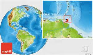 Where Is Trinidad And Tobago Located On The World Map by Physical Location Map Of Trinidad And Tobago