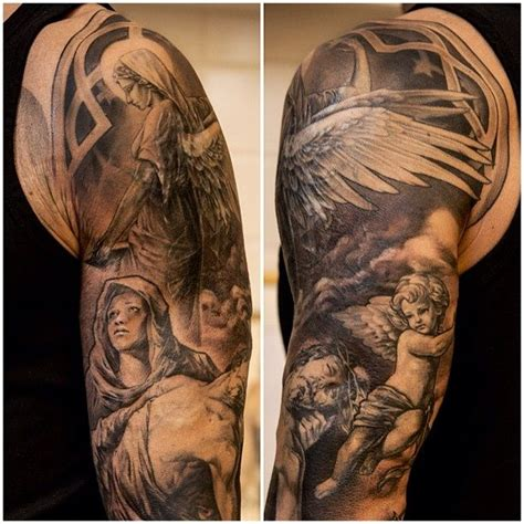 angel tattoo cover up 14 best christian sleeve tattoo images on pinterest