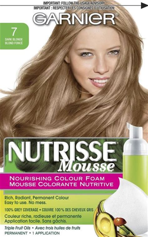 garnier foam hair color garnier nutrisse mousse nourishing color foam 7