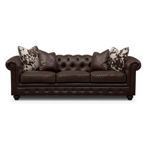 value city leather couches madeline ii leather sofa value city furniture living