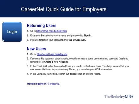 Berkeley Mba Career Services by Careernet Guide For Berkeley Mba Employers