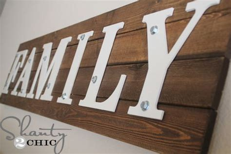 family woodworking diy wooden family sign shanty s tutorials