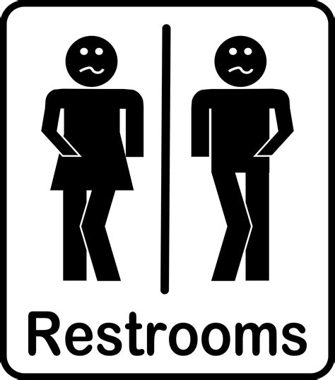 free bathroom signs clipart restrooms