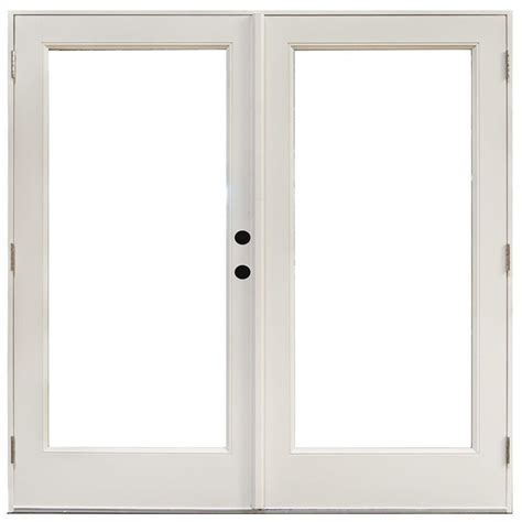 Masterpiece Patio Door Reviews Masterpiece 70 3 4 In X 79 1 4 In Fiberglass White Left Outswing Hinged Patio Door