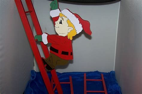 climbing santa ladder christmas decoration wooden santa and climbing ladder decoration other