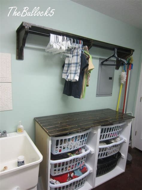laundry room shelf with hanging rod best 25 laundry room shelves ideas on laundry room laundry room shelf with hanging rod