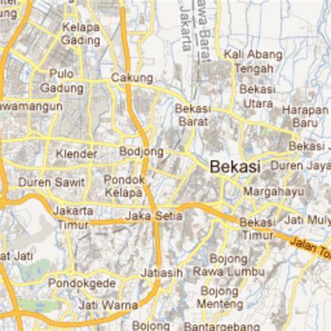 bekasi map  bekasi satellite image