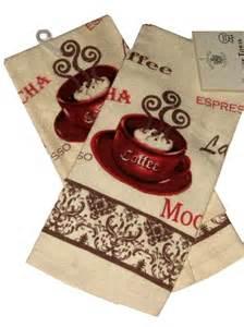 fat italian chef kitchen espresso latte mocha coffee themed kitchen towels
