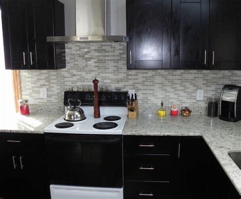 Mocha Shaker Kitchen with range hood   RTA Kitchen Cabinets