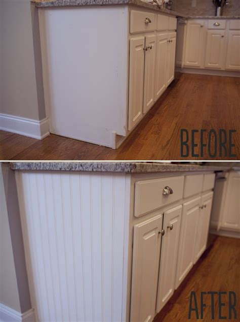 how to add beadboard to cabinets beadboard on ends of cabinet for the end cabinets of the