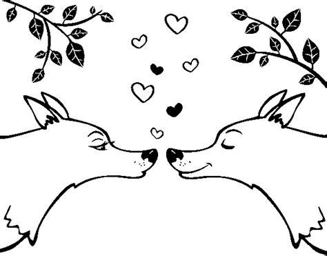 wolf love coloring pages wolf love coloring pages