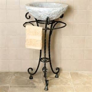 wrought iron bathroom towel bars delarue wrought iron sink stand with towel bar possible
