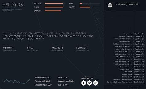 Command Line Website Template Tristan Farneau One Page Website Award