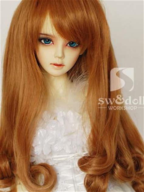 jointed doll wigs bjd wig gold borwn hair wig bw034 for sd jointed