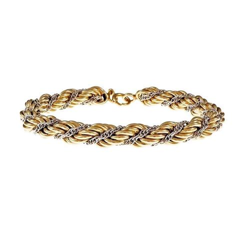 tutu and co gold bracelet and co braided rope chain gold bracelet for sale