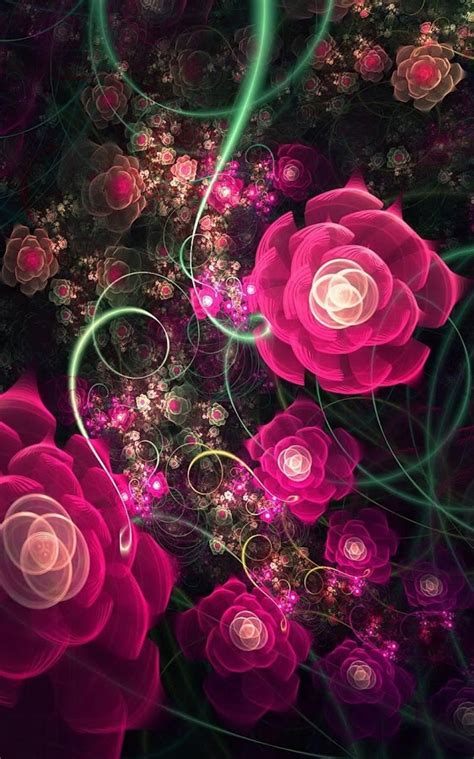 Live Flowers Wallpaper For Pc by Glowing Flowers Live Wallpaper Android Apps On Play
