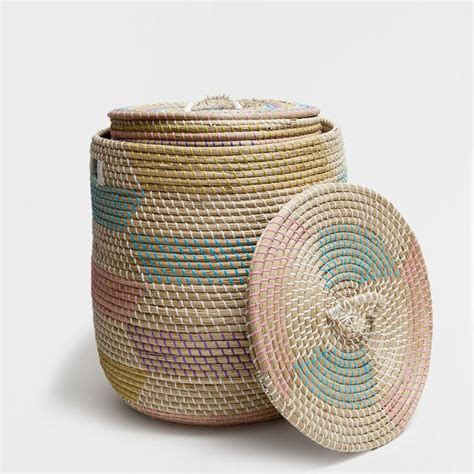 colorful baskets colorful oval shaped basket