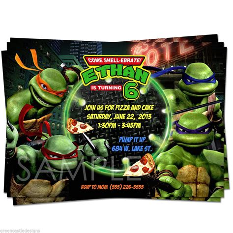 turtle birthday card template turtles invitations template best template collection