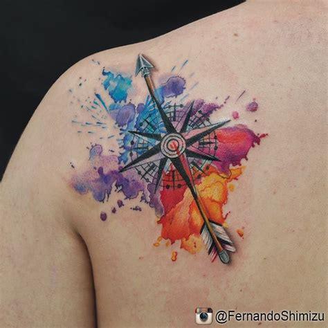 tatuagem rosa dos ventos o significado com 57 fotos