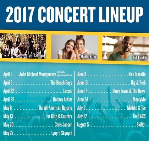 country fan 2017 lineup adventures theme park 2017 concert lineup