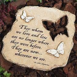Garden Rocks With Sayings Butterfly Memorial