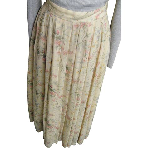 sheer rayon georgette pastel floral printed maxi skirt ralph from lisasvintagetreasures on ruby