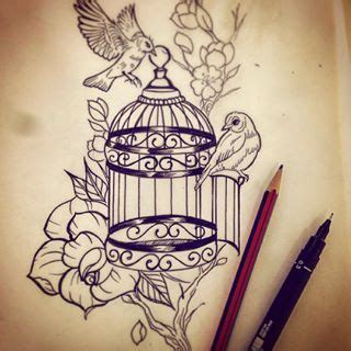 bird cage tattoo designs 1000 ideas about cage tattoos on bird cage