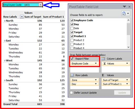 R Pivot Table by Pivot Table In Microsoft Excel Pivot Table Field List